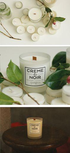 CREME&NOIR La Vien Rose Natural soy candle with by CremeandNoir, $19.00
