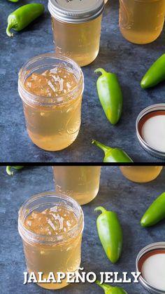 Jalapeno Jelly Recipes, Pepper Jelly Recipes, Hot Pepper Jelly, Spicy Pepper Recipe, Canning Jalapeno Peppers, Jalapeno Pepper Jelly, Canned Jalapenos, Jalapeno Jam, Pepper Jelly