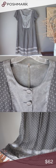 "Cop. Copine Robe Cailloux Gray Shift Dress A beautiful gray shift dress by Cop. Copine Paris. Sheer polka dot overlay with a separate gray cotton slip. Details similar to a washed silk look. Lightly worn. Great condition. 100% polyester, machine wash. EU size 36 equivalent to US size 4. Chest  16.5"", shoulders 13.5"", length 35.5"". Cop. Copine Paris Dresses"