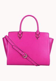 Meg Leather Bag - Hot Pink