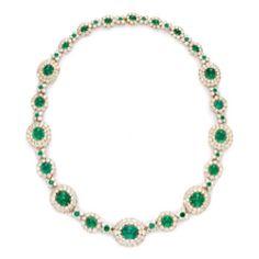 Van Cleef and Arples vintage emerald necklace circa 1936