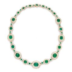Van Cleef and Arples vintage emerald necklace circa 1936