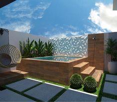 55 attractive backyard swimming pool designs ideas for your small backyard 15 Hot Tub Backyard, Small Backyard Pools, Swimming Pools Backyard, Swimming Pool Designs, Backyard Landscaping, Hot Tub Deck, Hot Tub Garden, Indoor Pools, Landscaping Design