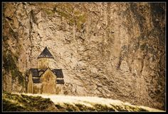 This is an amazing photography of Areni Church, as if the church is printed on the mountain behind. Super effect.