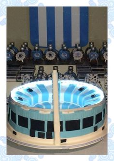 TORTA CANCHA DE RACING CON LUCES Cupcakes, Club, Amor, Art Cakes, Lights, Fiestas, Argentina, Cooking, Hipster Stuff