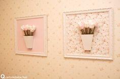 quadro flores para quarto de bebê