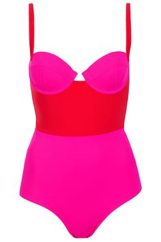 Red Colourblock Swimsuit - Swimwear - Clothing - Topshop USA