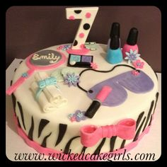 Zebra spa cake by wicked cake girls. Find us on Instagram and Facebook.