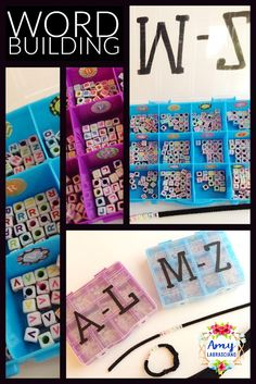 Learning Lessons With Amy Labrasciano: Letter Bead Word Building Spelling Games, Spelling Words, Spelling Ideas, First Grade Classroom, Primary Classroom, Sight Word Activities, Hands On Activities, Word Work Stations, Common Core Reading