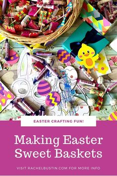 Making Easter Sweet Baskets with Swizzels ~ Rachel Bustin Easter Crafts For Toddlers, Spring Crafts For Kids, Toddler Crafts, Craft Box, Love Craft, Sweet Hampers, Old Wicker, Sweet Box, Egg Crafts