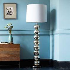 Abacus Floor Lamp - Mercury #westelm Living room floor lamp