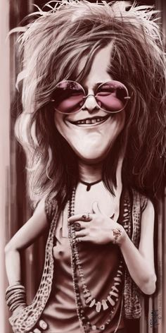 Janis Joplin FOLLOW THIS BOARD FOR GREAT CARICATURES OR ANY OF OUR OTHER CARICATURE BOARDS. WE HAVE A FEW SEPERATED BY THINGS LIKE ACTORS, MUSICIANS, POLITICS. SPORTS AND MORE...CHECK 'EM OUT!! Anthony Contorno Sr