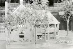 Phillip H. Carter, renovation and addition for Wychwood Branch, Toronto Public Library, architectural model circa 1977 Carnegie Library, Library Boards, Libraries, Toronto, Public, History, Architecture, Artwork, Model