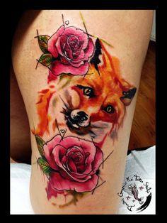 Rose fox by dimitris grapsias koi tattoo