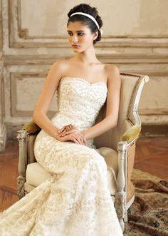 Wedding, Dress, Jim hjelm, Strapless, Beading