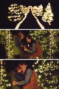 Beaverbrooks   Propose in the great outdoors amongst twinkling fairy lights #Beaverbrooks #Christmas #Proposal