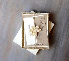 Helecho rústico - invitaciones de boda rústica, Fern invitaciones de boda, invitaciones de boda naturales {nuevas} - comprar para una muestra