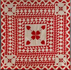 Under the Gables: 650 American Red and White Quilts!