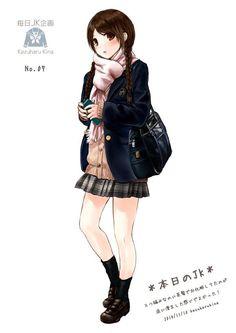 Ilustrasi Gadis SMA Ini Hebohkan Twitter Jepang - Manganime Heaven