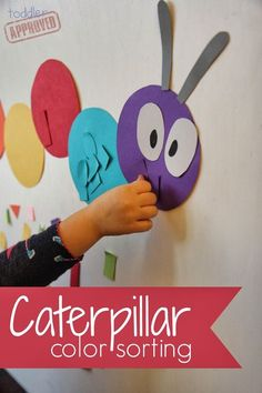 Toddler Approved!: Caterpillar Color Sorting