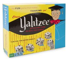 Experience Yahtzee like it was, when it debuted in Same styling as the original game with dice cup with Yahtzee Game, Up Arrow, Family Games, Fun Games, Coding, The Originals, My Favorite Things, Toys
