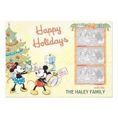 Classic Mickey and Minnie: Happy Holidays Card Invitation