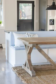 DIY Instructions for this table! Jenna Sue: Kitchen Chronicles: Building a Fancy X Farmhouse Table