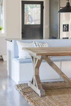 Kitchen Chronicles: Building a Fancy X Farmhouse Table | Jenna Sue Design Blog