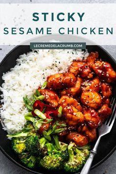 Chinese Chicken Dishes, Asian Chicken, Sesame Chicken, Chicken Meals, Recipe Chicken, Chicken Recipes, Main Meal Recipes, Asian Recipes, New Recipes