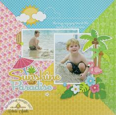 Doodlebug Design Inc Blog: Fun In The Sun Collection: Sunshine and Paradise layout by Melinda