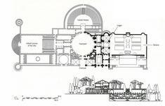 HIGH RENAISSANCE ARCHITECTURE, Raphael; Reconstructed plan of the original project, Villa Madama, by Raphael, Rome, c. 1516