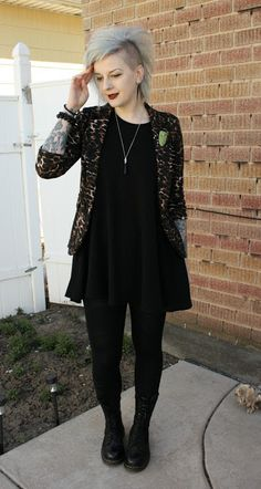 Coffin Kitsch: Outfit Featuring Tiki Head Brooch by Babe Gang Patches #goth…