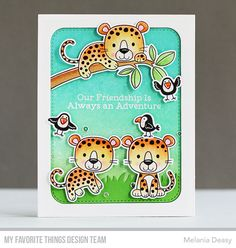 Handmade card from Melanie Deasy featuring products from My Favorite Things #mftstamps
