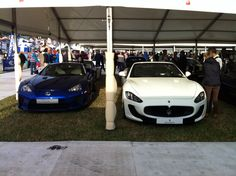 Left Lexus lfa only one in England and right is the Maserati gran turismo