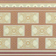 Victorian Art Wallpapers   Neo-Grec Style Dado   Bradbury