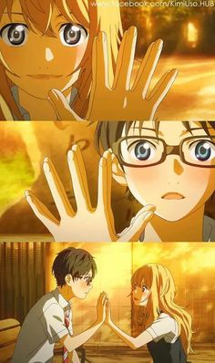 Your Lie in April, these two are so sweet. Pianist and violinist what a great duo. I want to make a fanfiction for this...