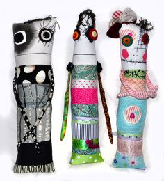 Di's monster rag dolls Anxiety Faeries by Snotnormal on Etsy Snotnormal: Poke around and pick something out!!! https://www.etsy.com/shop/Snotnormal