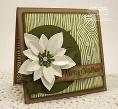 Poinsettia Die-namics, Pierced Circle Die-namics, Fishtail Flags STAX Die-namics, Woodgrain Background Stamp, Striped Backgrounds, Cheerful Christmas Greetings - Jackie Pedro  #mftstamps