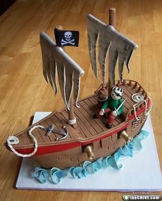 Pirates Ship Cake
