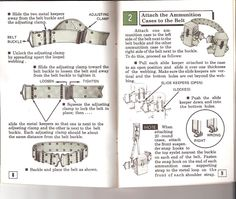 (ALICE) All-Purpose Lightweight Individual Carrying Equipment. This TC 10-19 manual, is dated 1977.  PAGE 8-9 Explaining the LC-2 web belt, and how to attach ammunition cases.  Great info..