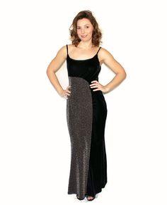 SALE Maxi Vintage Dress Prom Dress 90s Black by ChickClassique, $48.00  #teamlovegroup #vintage #etsy