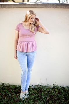 PDF pattern ............................ The Penelope Peplum is a WOMEN'S knit top pattern that is quick to sew and flattering on all body type...