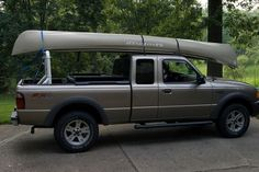 Carry Anything With a #Truck_Rack - #Truck racks are #versatile, made in different sizes, styles and shapes to suit your hauling needs. Using one, along with a set of strong ties, #secure extremely large cargo like this canoe.