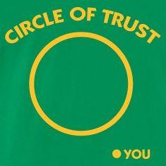 Artpolitic, Mandapeno, cirkel, tillid, venner, venskab, fjender, had, rivaler, cool, stilfuld, sjov, gaverT-shirts, flaskegrøn.