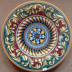 Deruta plate vario Pattern made/painted byhand-Italy. Deruta plate vario Pattern made/painted byhand-Italy. Pottery Painting, Ceramic Painting, Ceramic Art, Painted Pottery, Pottery Plates, Ceramic Plates, Decorative Plates, Souvenir Store, Italian Pottery