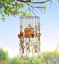 Vintage Key to My Heart Wind Chime