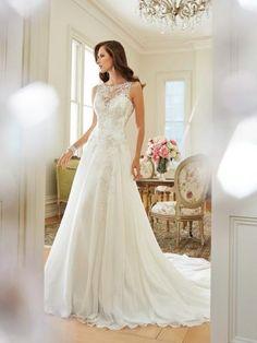 Prinzessin Elegante Glamouröse Brautkleider aus Organza mit Applikation