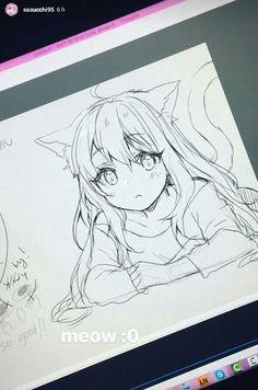 New drawing anime girl sketches manga art ideas Pensez à l. Manga Drawing Tutorials, Anime Drawings Sketches, Anime Sketch, Cute Drawings, Art Manga, Anime Art, Manga Anime, Anime Poses, Kawaii Anime