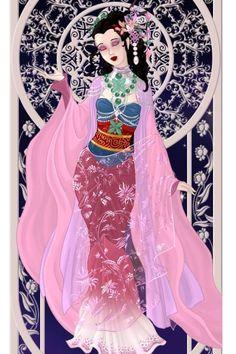 Goddess Mulan ~ by ZoraRavenwood ~ created using the Azaleas Dolls doll maker | DollDivine.com