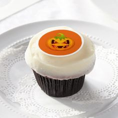 Edible Frosting Rounds-Halloween Pumpkin Edible Frosting Rounds - Halloween happyhalloween festival party holiday
